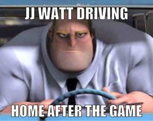 Watt driving home