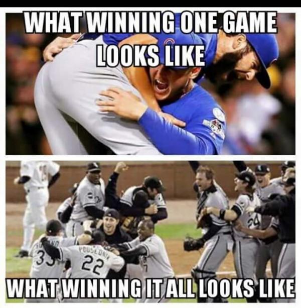 Winning one, winning it all