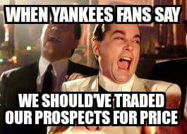 Yankees regreat not trading for Price