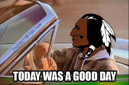 A good day for the Redskins