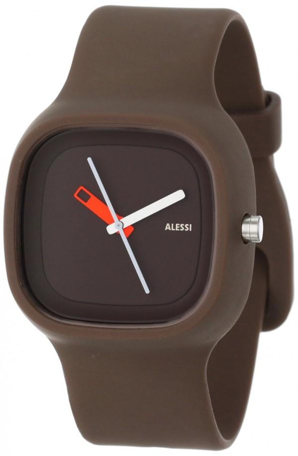 Alessi Men's AL10013 Kaj Polyurethane Brown Designed by Karim Rashid Watch