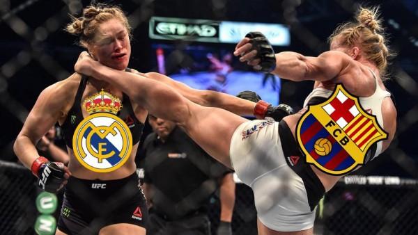 Barcelona kick Real Madrid