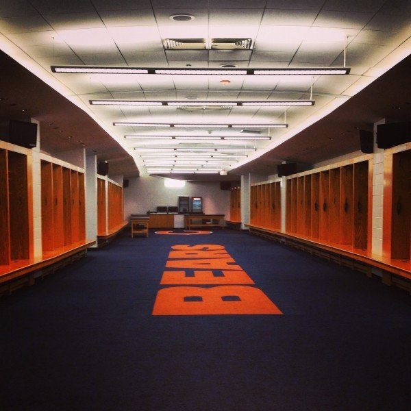 Bears locker room