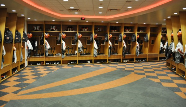 Bengals locker room