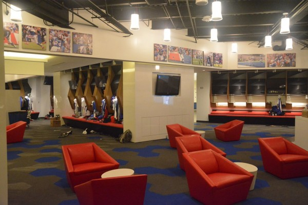 Bills locker room