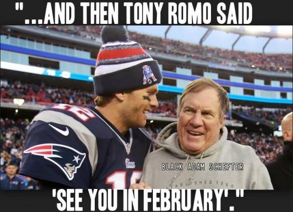 Brady joking about Romo