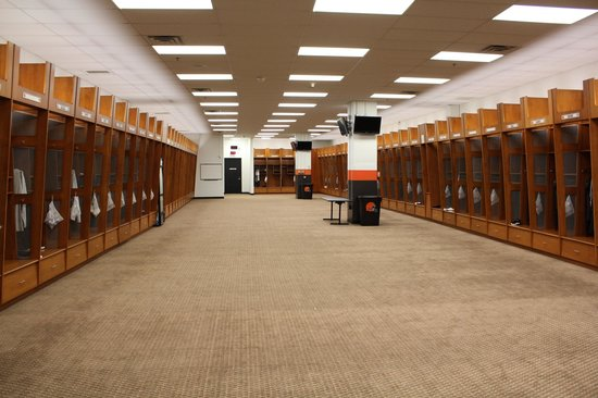 Browns locker room