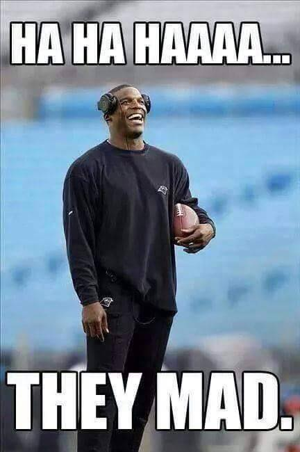 Cam Newton laughing
