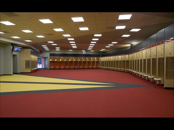 Cardinals locker room