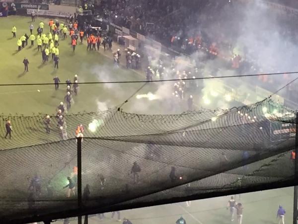 Chaos at the stadium