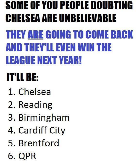 Chelsea Championship Joke