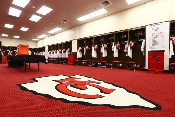 Chiefs locker room