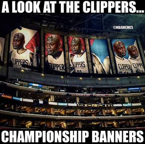 Clippers championship banners