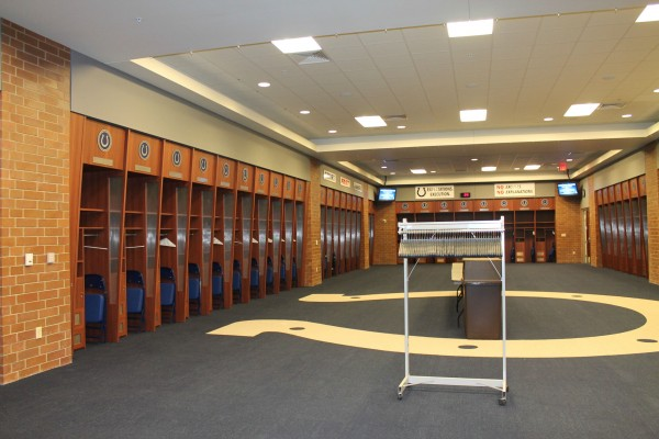 Colts locker room