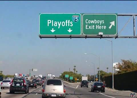 Cowboys exit here