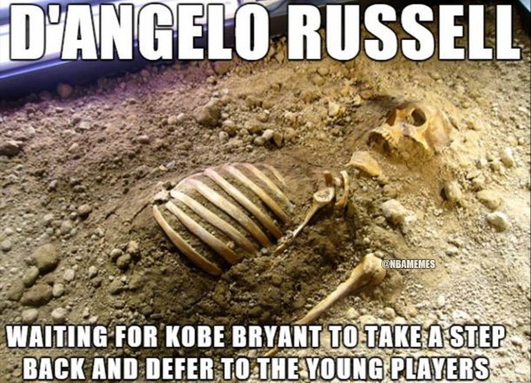 D'Angelo Russell Waiting Meme