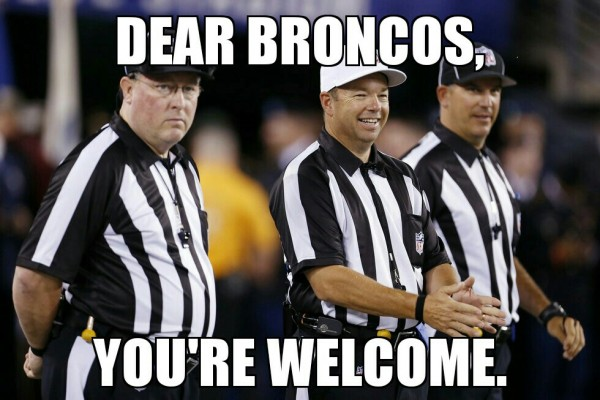 Dear Broncos, your welcome