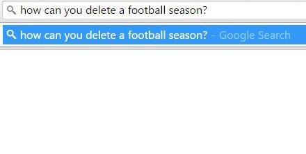Deleting a football season