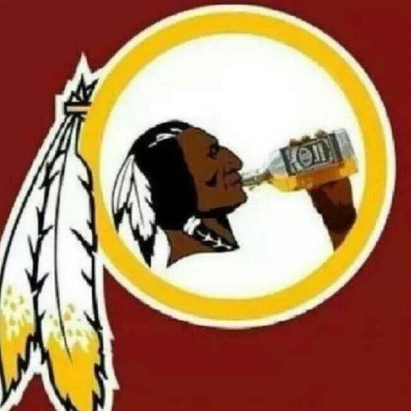 Drinking Redskins logo