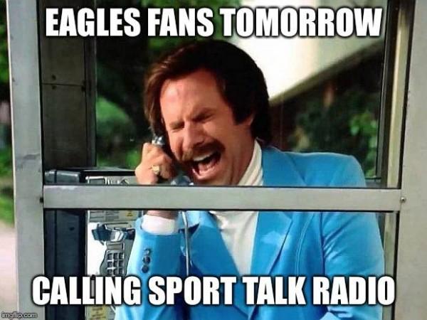 Eagles on sports talk radio