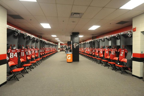 Falcons locker room