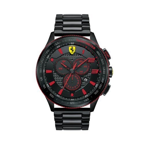 Ferrari Men's 0830142 Scuderia XX Analog-Display Quartz Black Watch