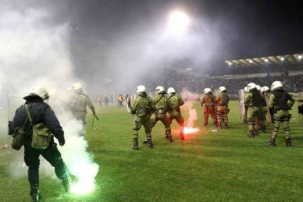 Flares & police