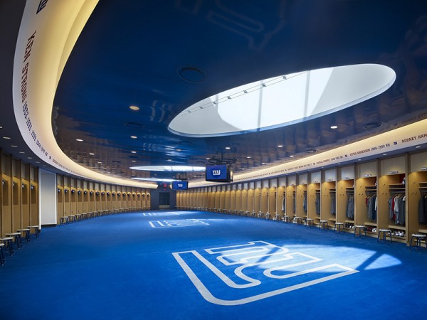 Giants locker room