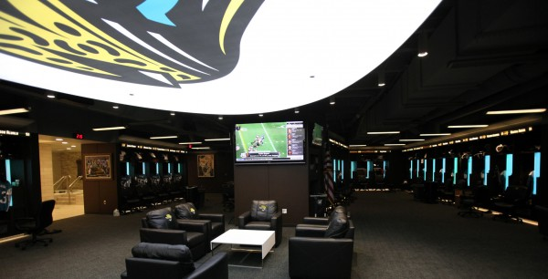 Jaguars locker room