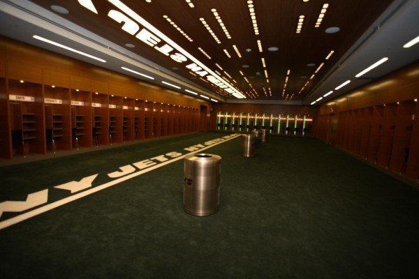 Jets locker room