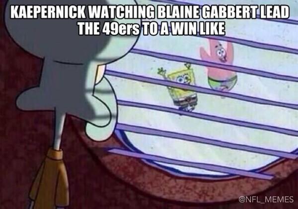 Kaepernick watching