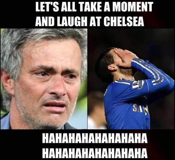 Laughing at Chelsea