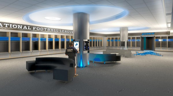 Lions locker room