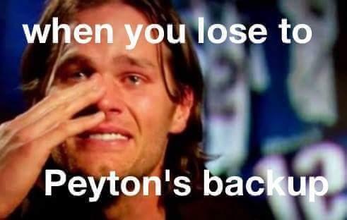 Losing to Peyton's backup