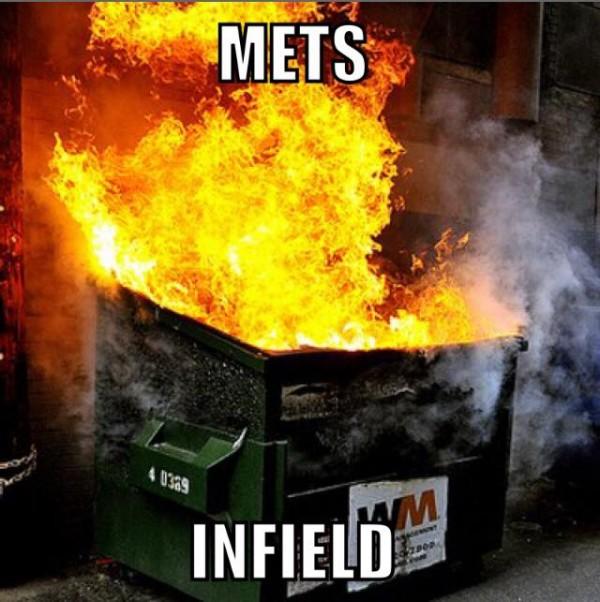 Mets infield