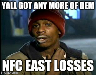 NFC East Losses