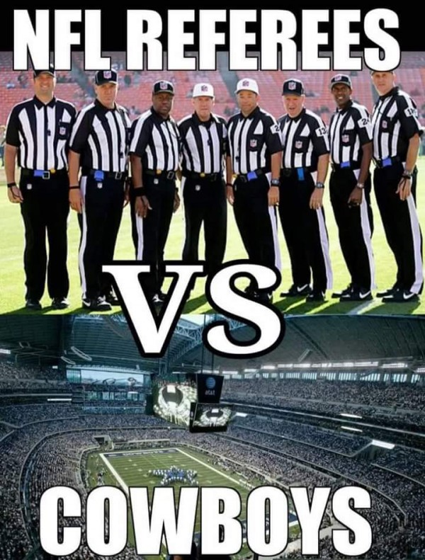 NFL refs vs Cowboys