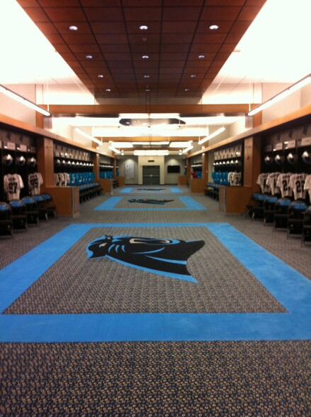 Panthers locker room