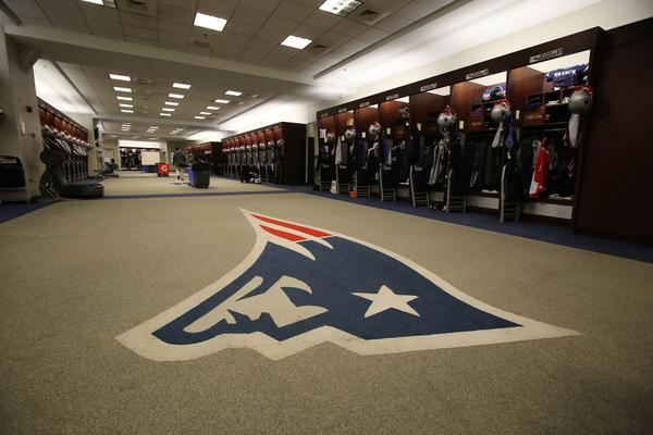 Patriots locker room