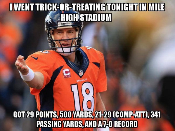 Peyton Manning trick or treat