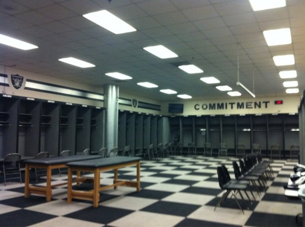 Raiders locker room
