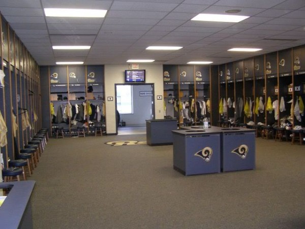 Rams locker room