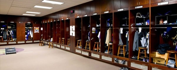 Ravens locker room