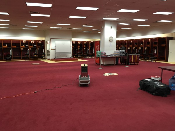Redskins locker room