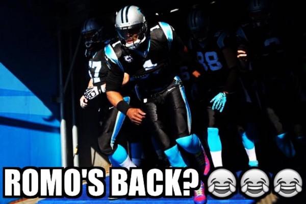 Romo's back