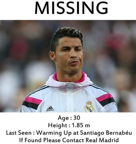 Ronaldo missing