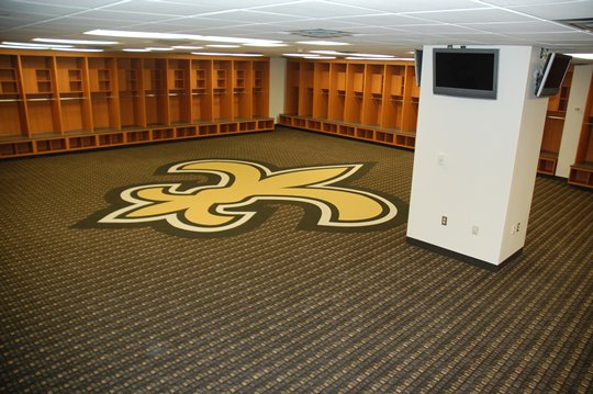 Saints locker room
