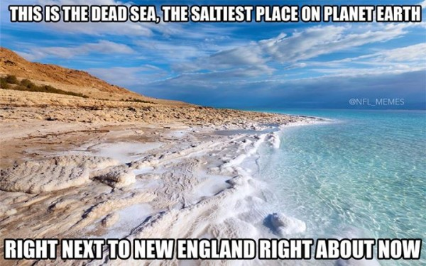 Salty Patriots fans