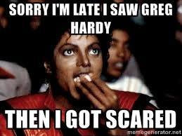 Scared if Hardy