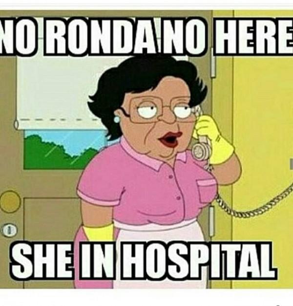 She in hospital